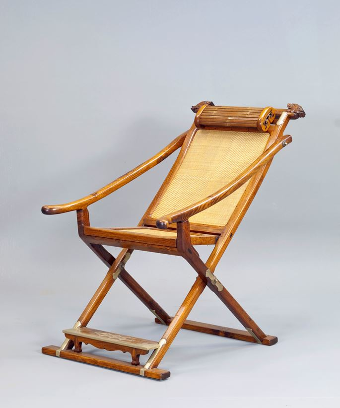 A Huanghuali Wood Folding & Detachable Chair | MasterArt