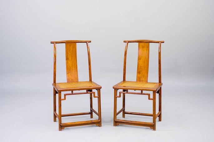 A pair of Huanghuali Wood Side Chairs | MasterArt