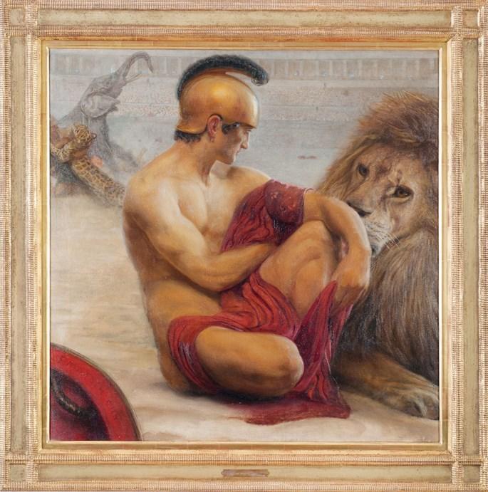 Franz  von Matsch - GLADIATOR WITH LION | MasterArt