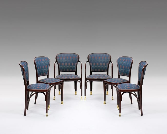 Gustav Siegel - A PAIR OF ARMCHAIRS AND FOUR CHAIRS | MasterArt