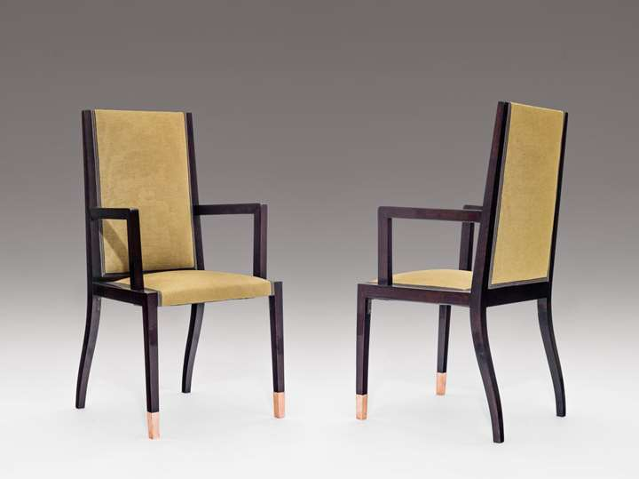 A PAIR OF ARMCHAIRS
