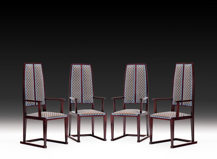 FOUR SECESSIONIST ARMCHAIRS