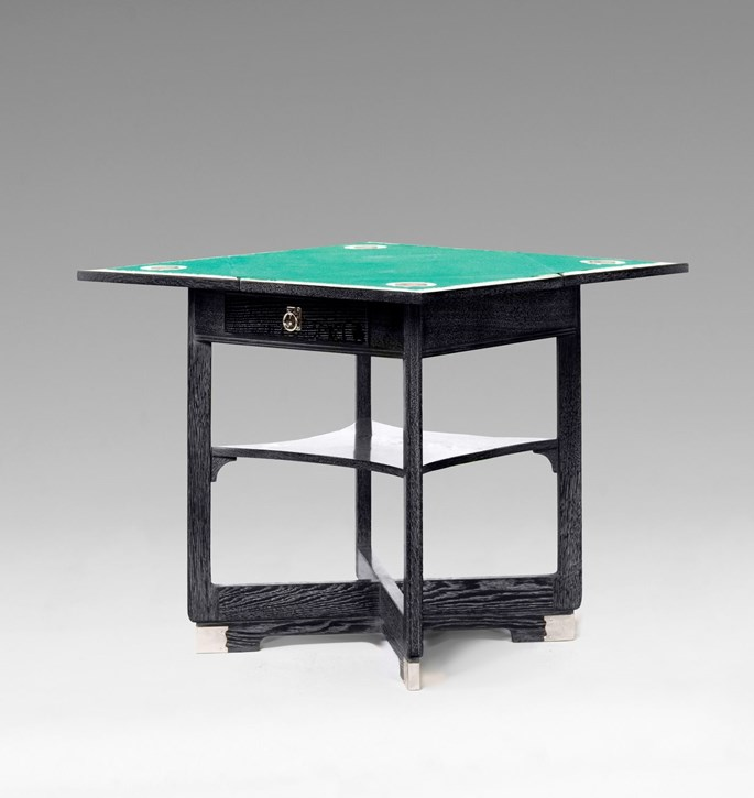 Hans Vollmer or Wilhelm Schmidt - GAMING TABLE WITH FOUR ARMCHAIRS consists of: 1 extendable gaming table, 4 armchairs   MasterArt