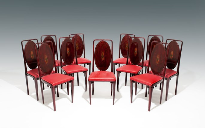 Josef Hoffmann attr. - A SET OF TEN SIDE CHAIRS | MasterArt