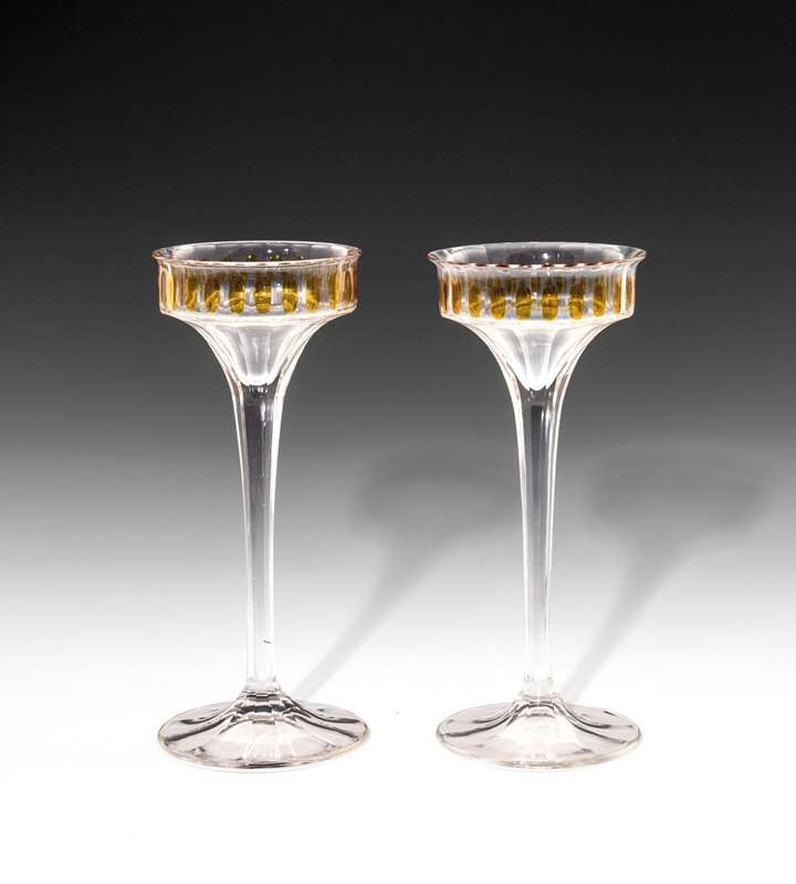 A PAIR OF STEM GLASSES