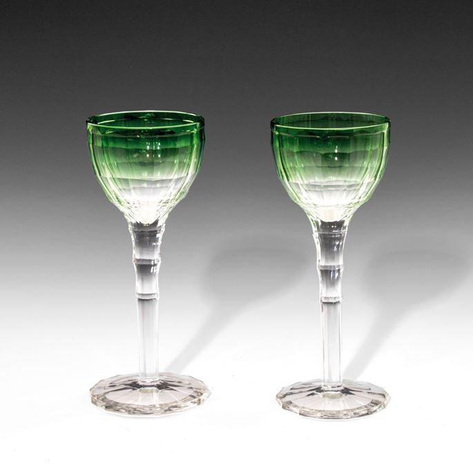 Emil Hoppe - A PAIR OF MOSELLE WINE GLASSES | MasterArt