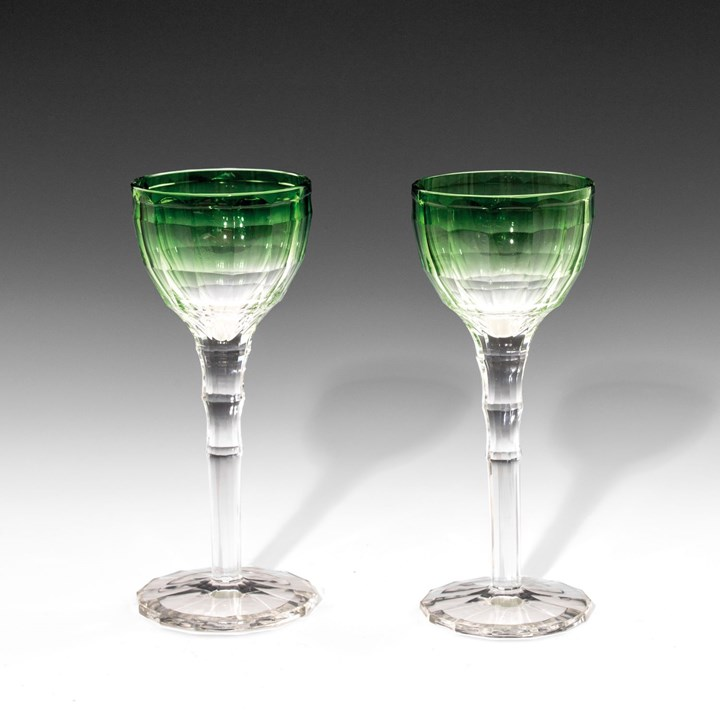 A PAIR OF MOSELLE WINE GLASSES