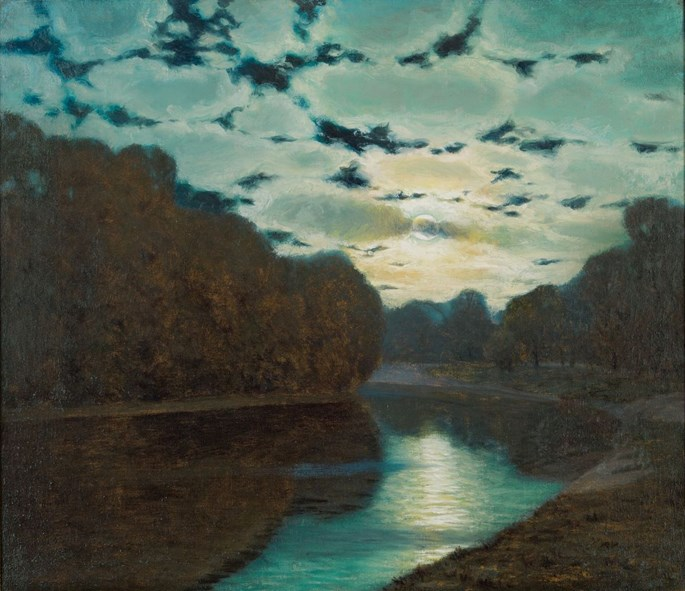Eduard Kasparides - FULL MOON AT THE RIVER | MasterArt