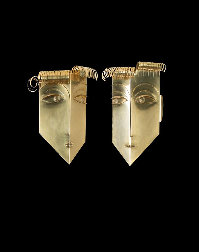 Franz Hagenauer - MALE AND FEMALE WALL MASK | MasterArt