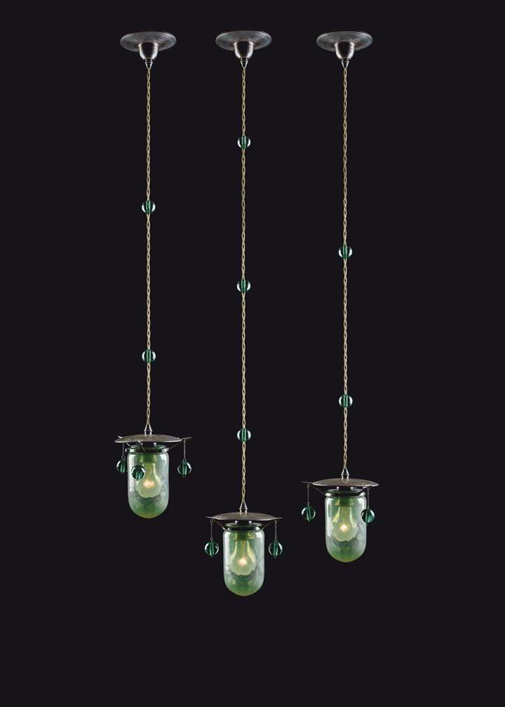 THREE PENDANT LIGHTS