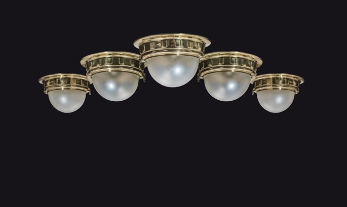 Otto Wagner - FIVE CEILING LIGHTS FOR THE VIENNA METROPOLITAN RAILWAYS | MasterArt