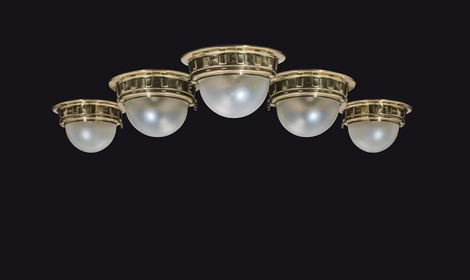 Otto Wagner - FIVE CEILING LIGHTS FOR THE VIENNA METROPOLITAN RAILWAYS | MasterArt