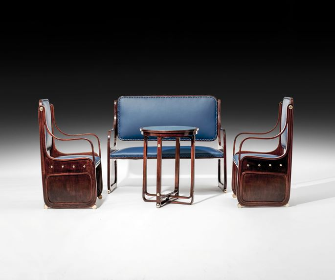 Koloman Moser - SEATING GROUP Consisting of: 1 settee, 2 armchairs, 1 table | MasterArt