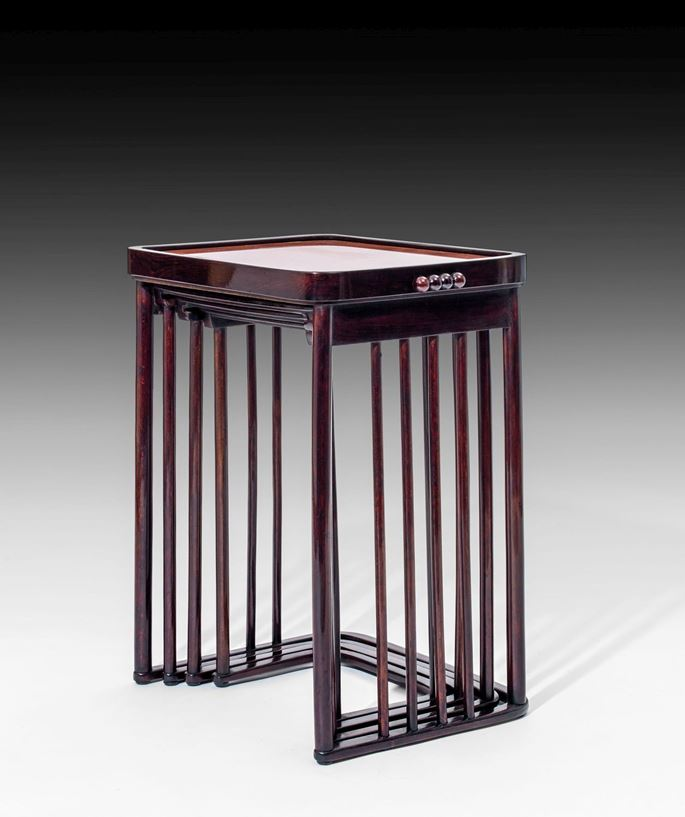 Josef  Hoffmann - A SET OF FOUR NESTING TABLES | MasterArt