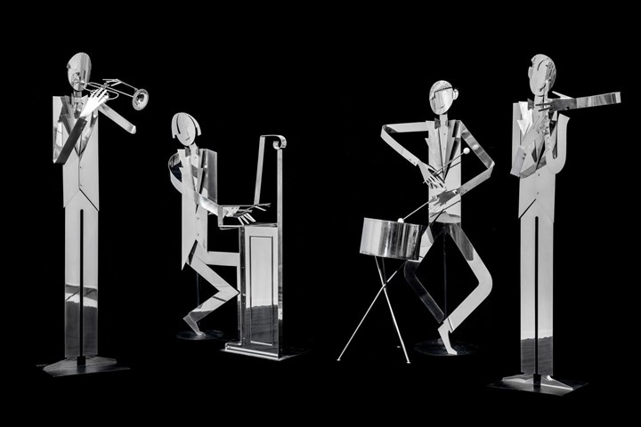 FOUR LIFE-SIZED JAZZ MUSICANS