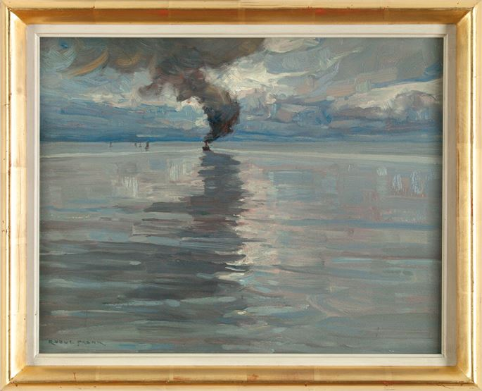Raoul Frank - STEAMBOAT ON A CALM SEA | MasterArt