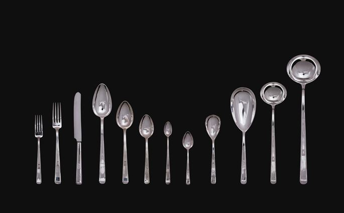 Joseph Maria Olbrich - 150-PIECE SET OF SILVER CUTLERY IN A CANTEEN | MasterArt