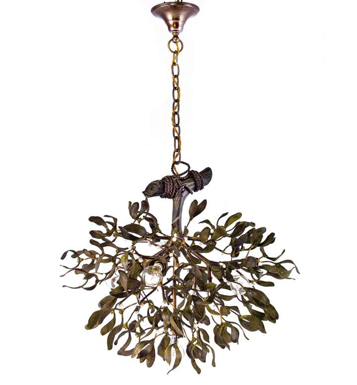 FIVE-BULB MISTLETOE CHANDELIER