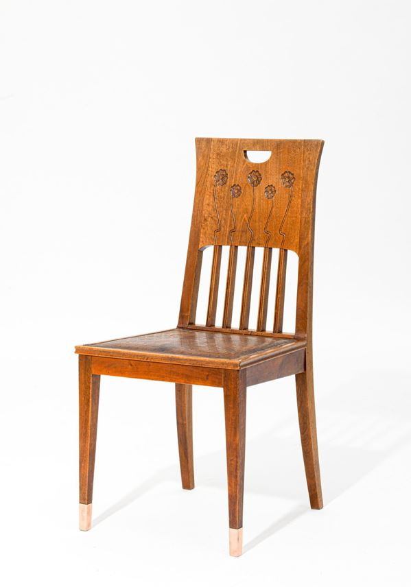 Joseph Maria Olbrich - ONE ARMCHAIR AND FIVE CHAIRS   MasterArt