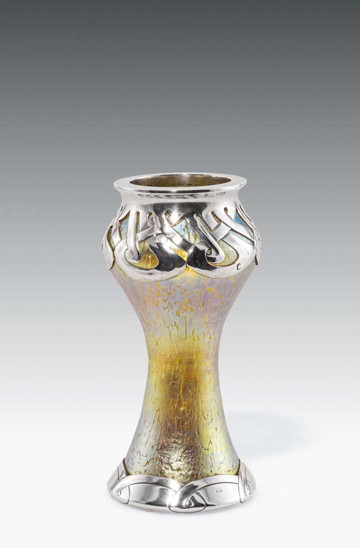 VASE WITH SILVER MOUNT