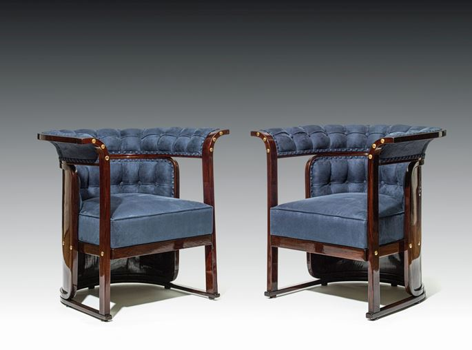 "Josef  Hoffmann - A PAIR OF ARMCHAIRS known as ""Buenos Aires"" armchairs 