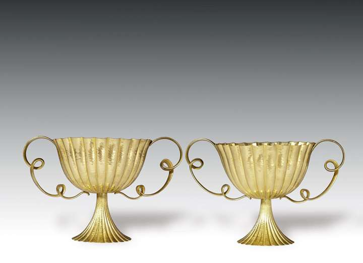 A PAIR OF LOOP-HANDLED CENTREPIECES