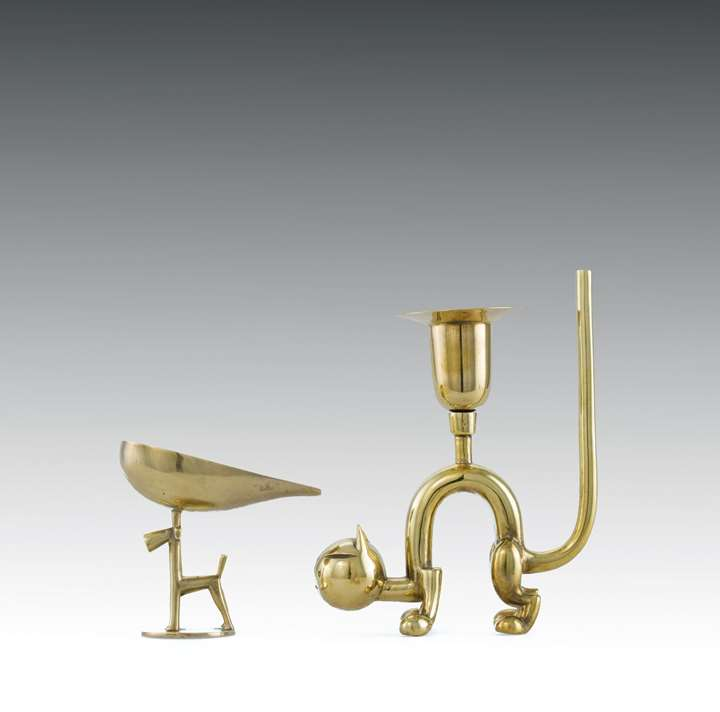 CANDLESTICK AND ASHTRAY