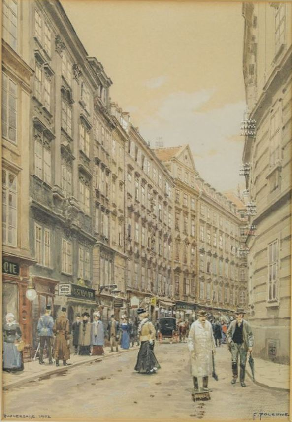 Franz Poledne - VIEW INTO THE BOGNERGASSE AT VIENNA | MasterArt
