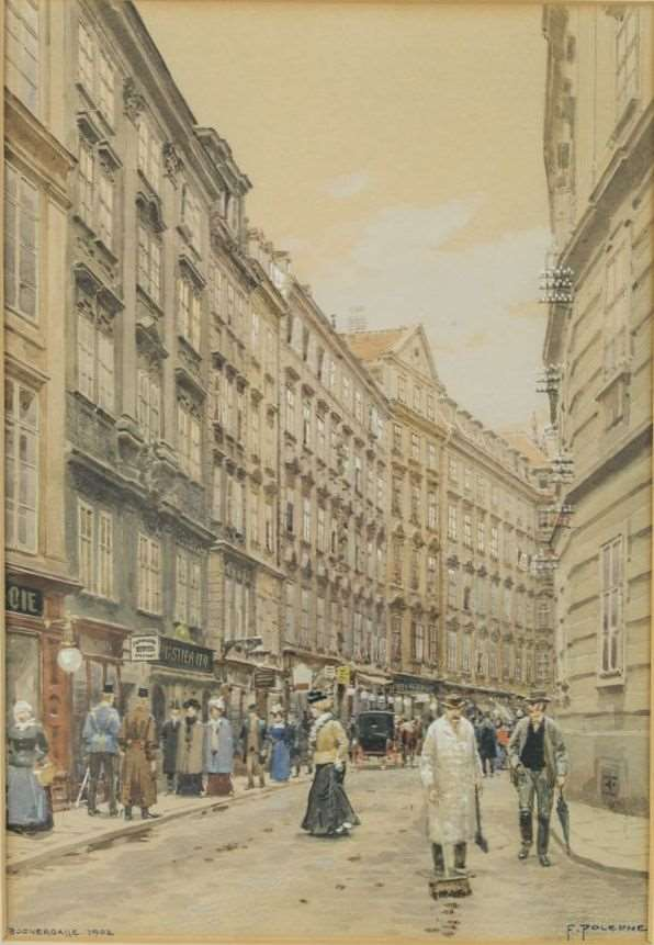 VIEW INTO THE BOGNERGASSE AT VIENNA
