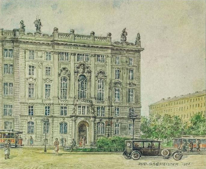 Rudolf Reinhold Sagmeister - HAUS DER KAUFMANNSCHAFT ON SCHWARZENBERGPLATZ IN VIENNA   MasterArt