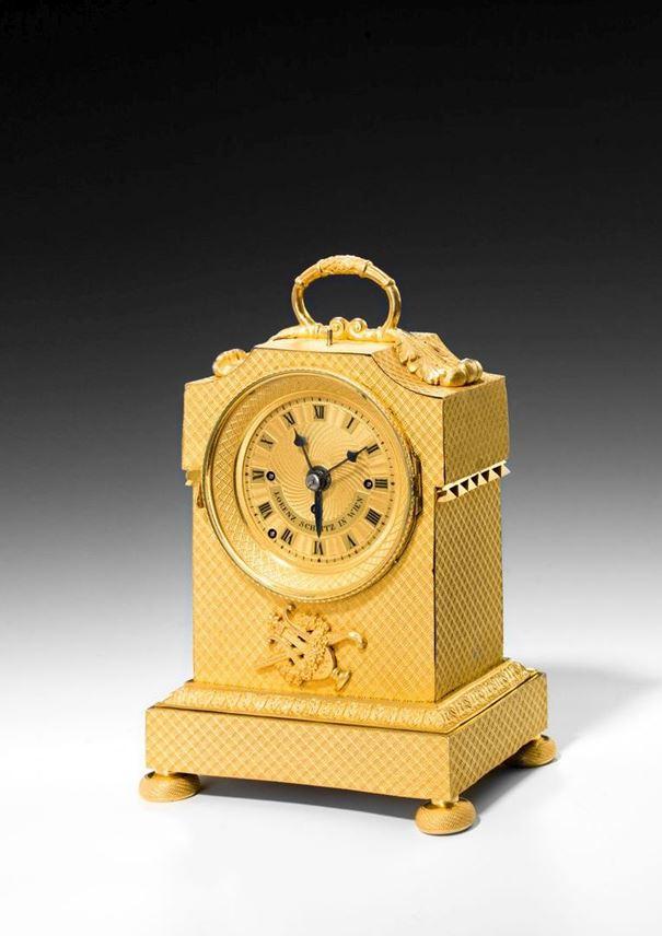 LORENZ (LAURENZ)  SCHLITZ  - EMPIRE CARRIAGE CLOCK WITH ALARM | MasterArt