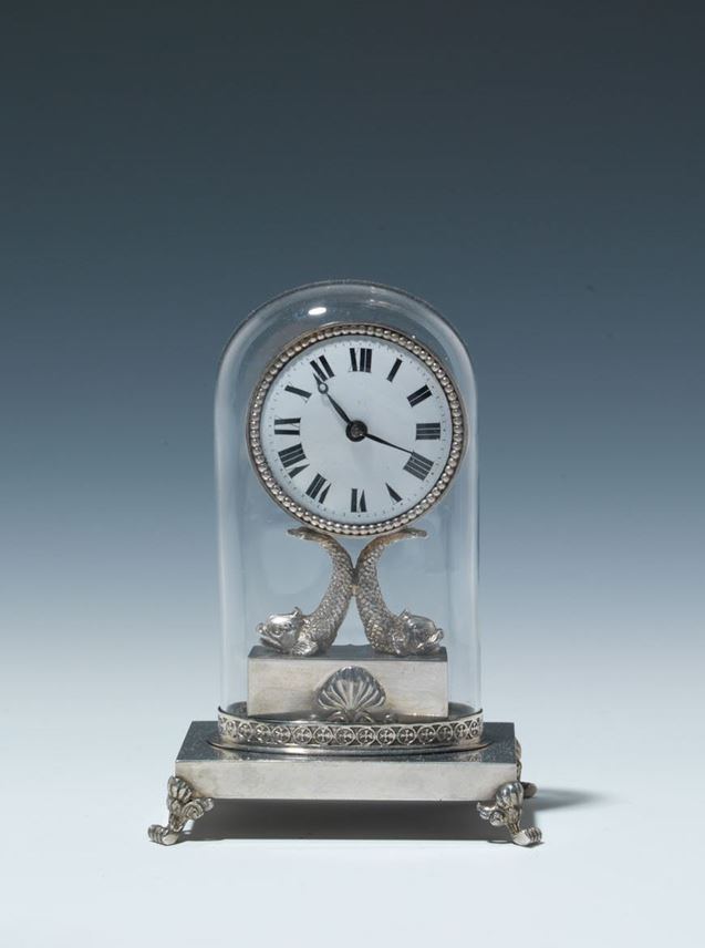 EMPIRE MINIATURE CLOCK WITH GLASS CASE | MasterArt