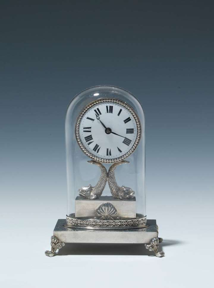 EMPIRE MINIATURE CLOCK WITH GLASS CASE