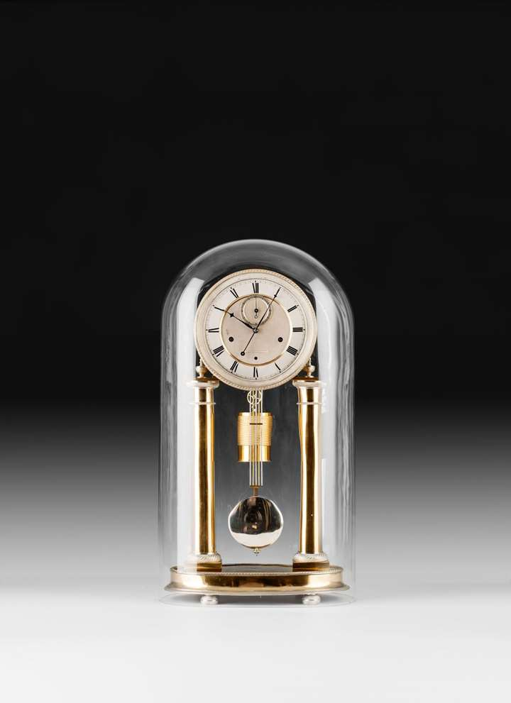 EXCEPTIONAL EMPIRE COLUMN CLOCK