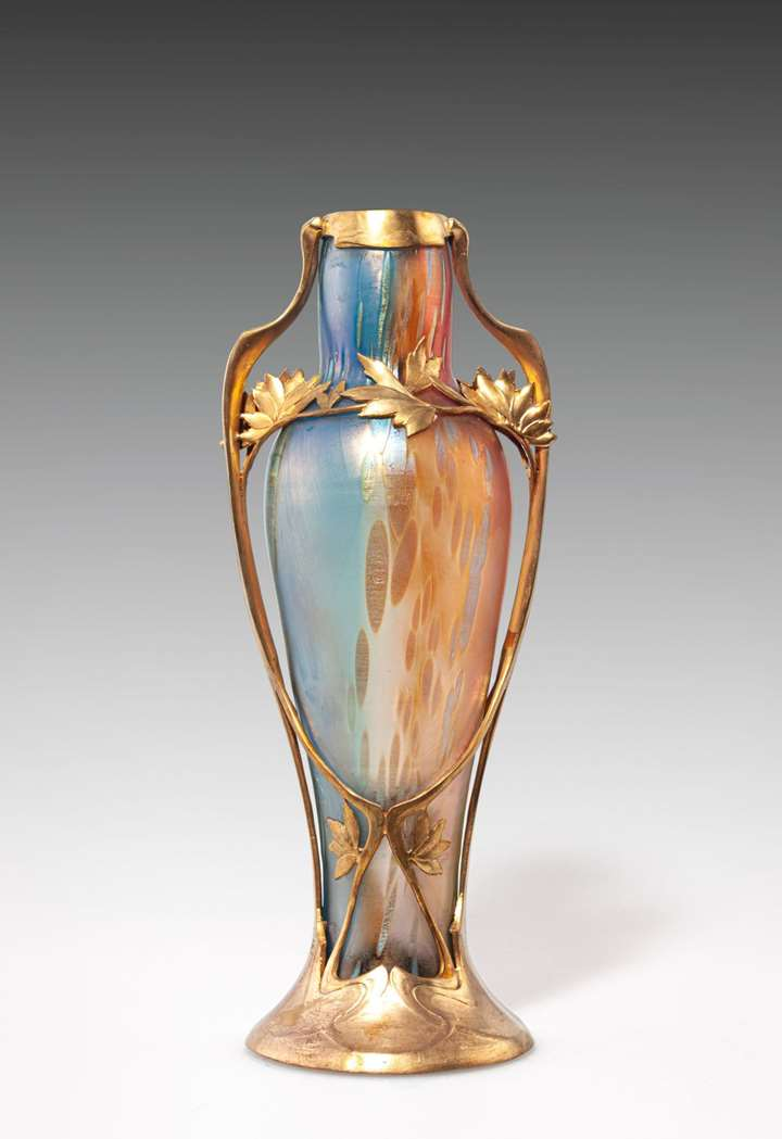 VASE WITH GILT BRASS MOUNT