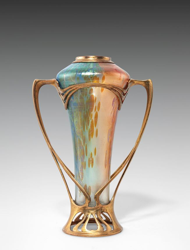 Lötz Witwe - VASE WITH GILT BRASS MOUNT | MasterArt