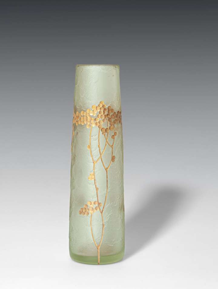 VASE DECORATED WITH STYLISED BLOSSOMS