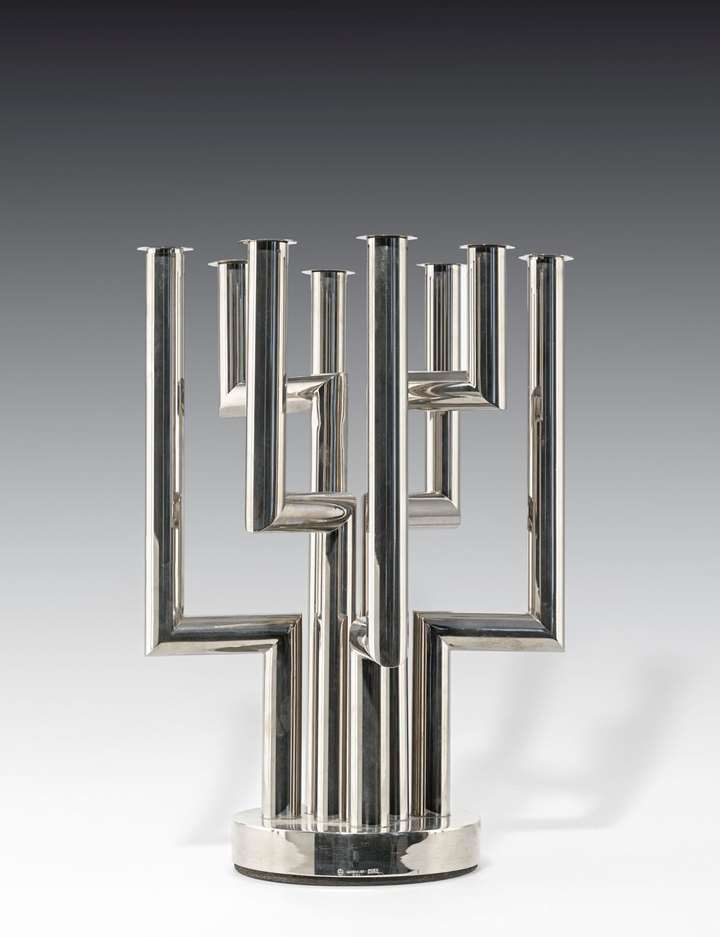 A PAIR OF EXTRAORDINARY EIGHT-BRANCHED CANDELABRA