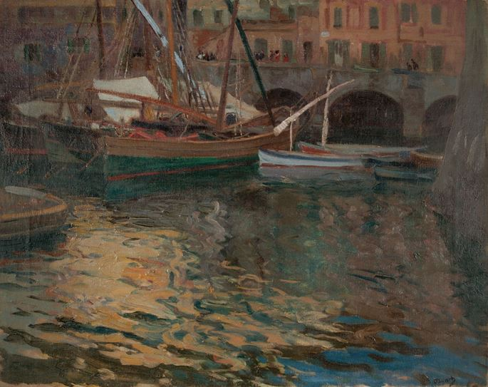 Karl O'Lynch of Town - EVENING AT THE HARBOUR OF CAMOALI | MasterArt