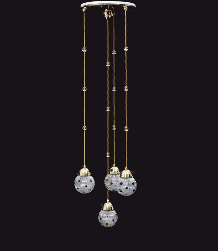 FOUR-FLAME CHANDELIER