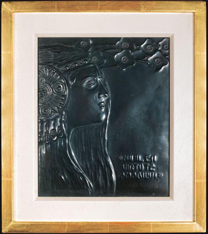 """Georg Klimt - Relief panel """"Nihil est virtute amabilius""""   MasterArt"""