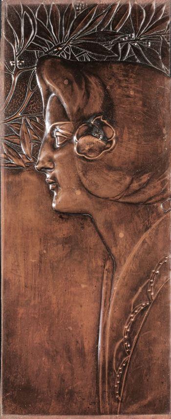 Georg Klimt - Jugendstil panels | MasterArt