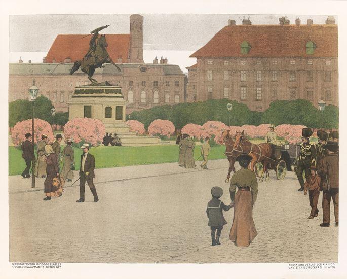 Carl Moll - Schönbrunn And Heldenplatz | MasterArt
