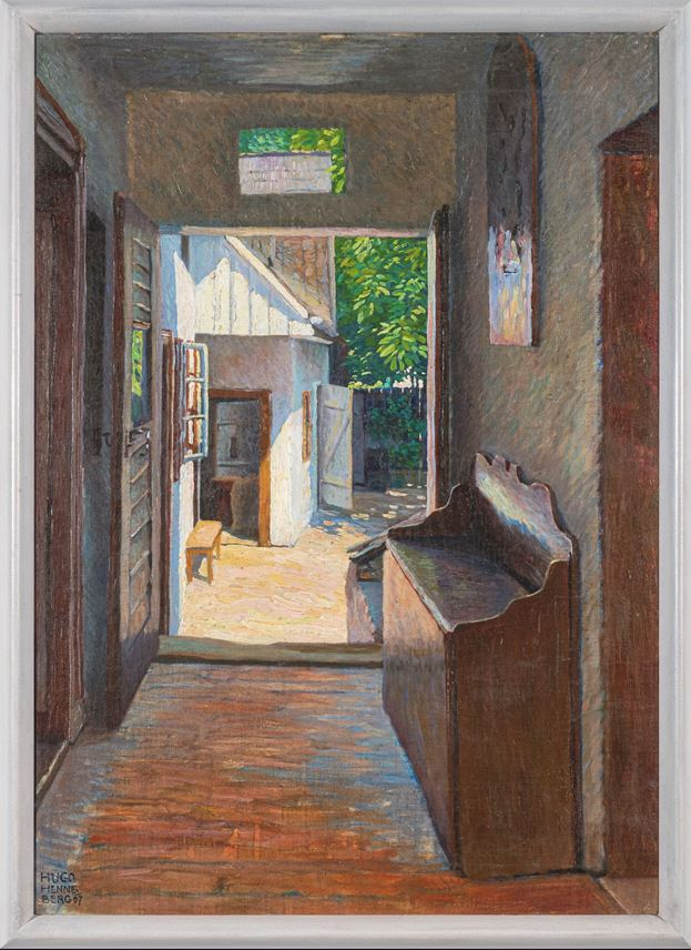 Hugo Henneberg - View from the hallway into the sunny courtyard   MasterArt