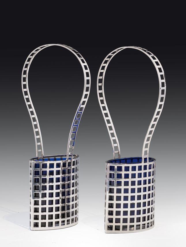 Josef  Hoffmann - A pair of silver baskets | MasterArt