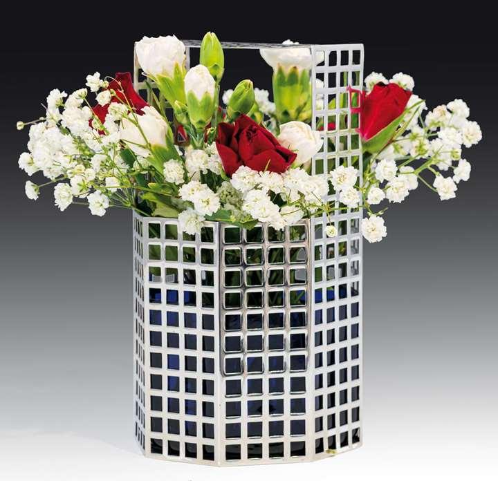 A latticework vase