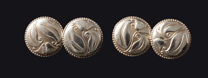 Josef Hoffmann / Wiener Werkstätte - A pair of silver cufflinks   MasterArt