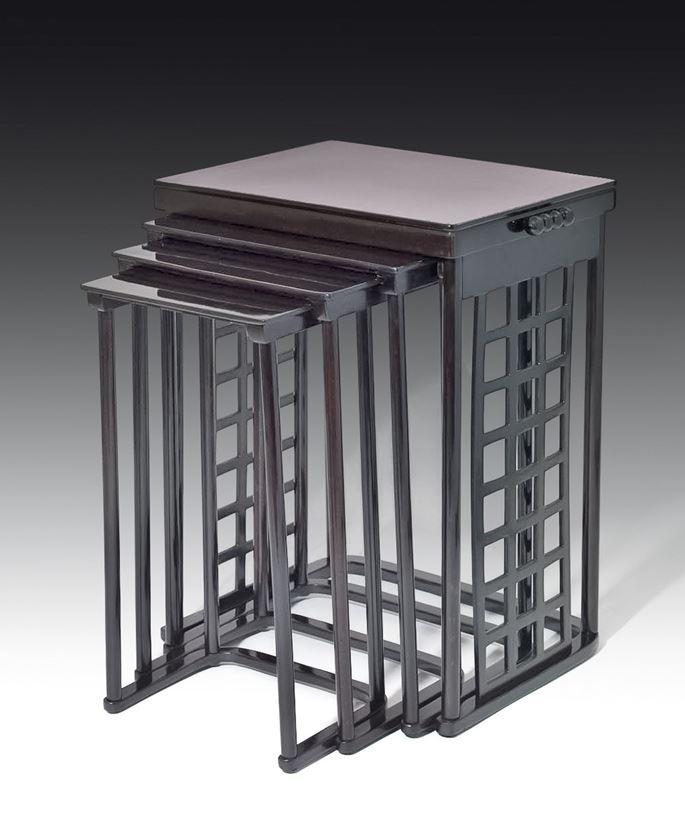 Josef  Hoffmann - Nesting Tables with square lattice | MasterArt
