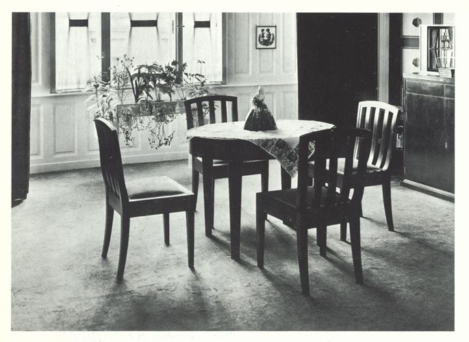 Eduard Josef Wimmer-Wisgrill - DINING TABLE, SIX ARMCHAIRS, MIRROR | MasterArt