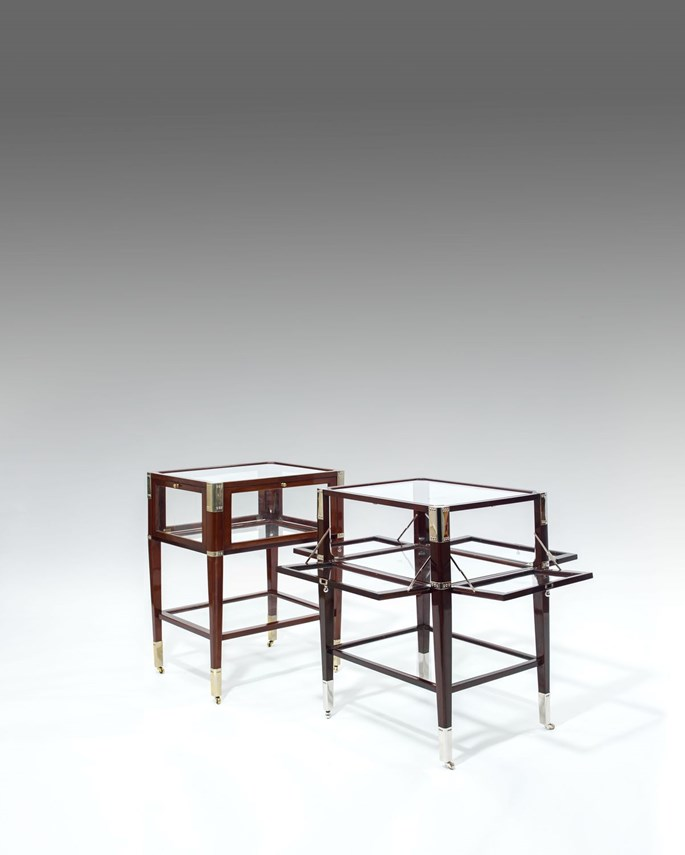 A PAIR OF SERVING TROLLEYS | MasterArt